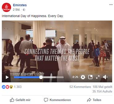 Screenshot von einer Werbeanzeige auf Facebook, 26.03.2018