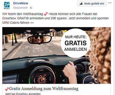 Screenshot von Facebook, 26.03.2018