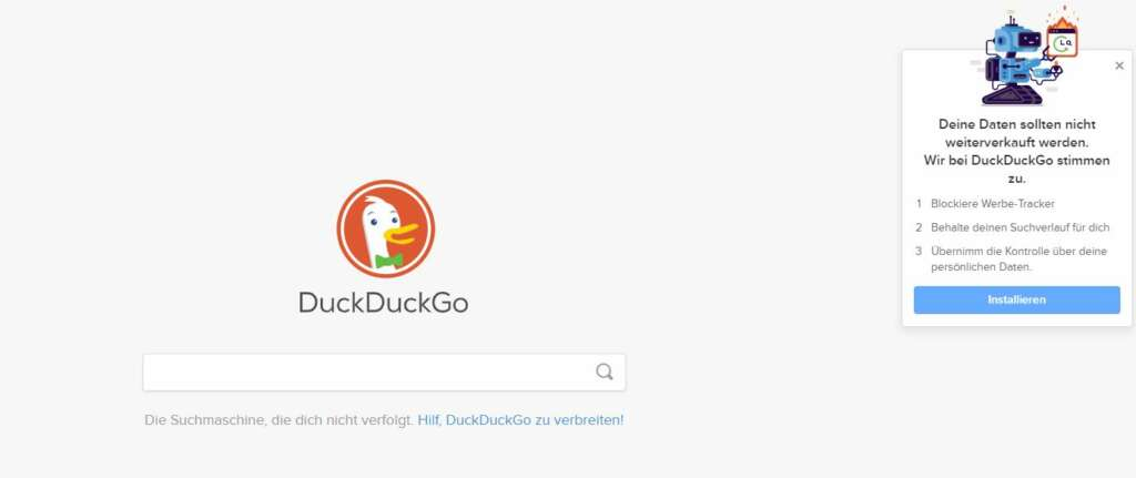 duckduckgo Suchfeld