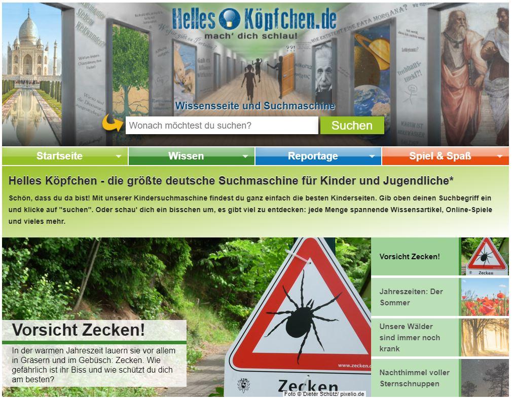 Helles Köpfchen Suchfeld