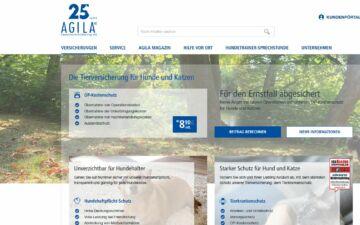 Screenshot AGILA Haustierversicherung
