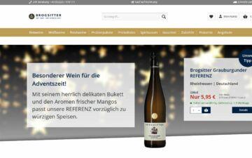 Screenshot Brogsitter Weingüter