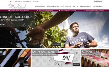 Screenshot C&D Weinhandelsgesellschaft