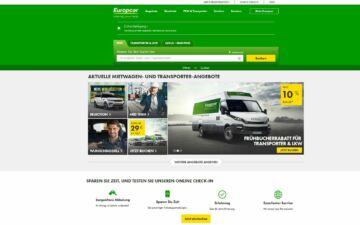 Screenshot Europcar Autovermietung
