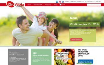 Screenshot Dr. Wolz Zell-Hefepräparate