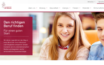 Screenshot Allianz für die Region