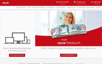Screenshot CEWE Fotobuch