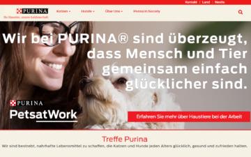 Screenshot Nestlé Purina