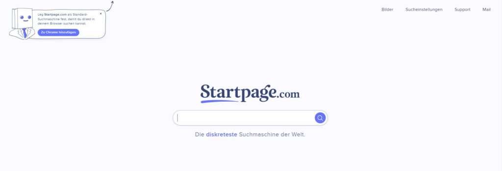startpage Suchfeld