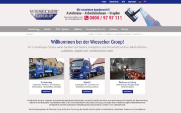 Screenshot Wiesecker Group